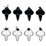 Grupo de ícones do gelado do vetor Fotos de Stock Royalty Free