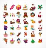 Grupo de ícones do Natal Imagens de Stock