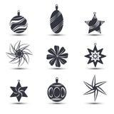 Grupo de ícones do Natal Ilustração do vetor Foto de Stock Royalty Free
