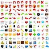Grupo de ícones do negócio Fotos de Stock