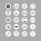 Grupo de ícones do negócio Fotografia de Stock Royalty Free