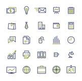 Grupo de ícones do negócio para o mercado do Internet e ilustração royalty free