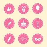 Grupo de ícones do partido Imagem de Stock Royalty Free