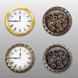 Grupo de ícones do relógio Fotografia de Stock