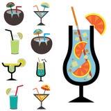 Grupo de ícones do suco Imagens de Stock