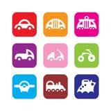 Grupo de ícones do transporte Foto de Stock