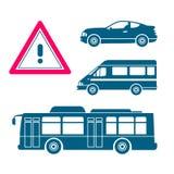Grupo de ícones do transporte Ilustração Stock