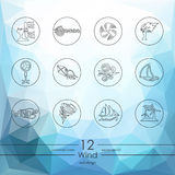 Grupo de ícones do vento Fotografia de Stock