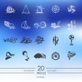 Grupo de ícones do vento Imagem de Stock