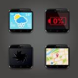Grupo de ícones do vetor do app Fotografia de Stock