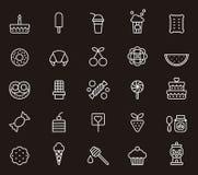 Grupo de ícones dos confeitos Foto de Stock