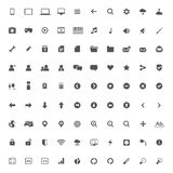 Grupo de ícones dos multimédios para a Web e o móbil Imagens de Stock Royalty Free