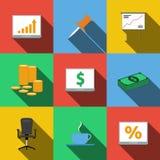 Grupo de ícones em um estilo liso Imagens de Stock Royalty Free