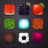 Grupo de ícones estilizados como o app móvel Foto de Stock Royalty Free