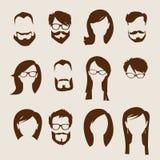 Grupo de ícones humanos lisos. Imagem de Stock Royalty Free