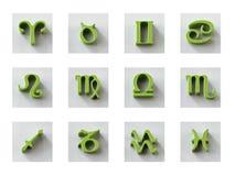 Grupo de ícones isolados do zodíaco 3D para a Web e a cópia Imagens de Stock Royalty Free
