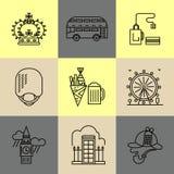 Grupo de ícones lineares de Londres Foto de Stock Royalty Free