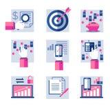 Grupo de ícones lisos Imagem de Stock