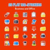 Grupo de 25 ícones lisos Imagem de Stock Royalty Free