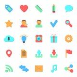 Grupo de ícones lisos da Web Fotos de Stock