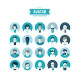 Grupo de ícones lisos do avatar do projeto para a medicina Fotografia de Stock Royalty Free