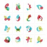 Grupo de ícones lisos do projeto para a beleza, a forma, os cosméticos, os termas e o bem-estar, os cuidados médicos e produtos n ilustração do vetor