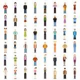 Grupo de ícones lisos dos povos Fotos de Stock