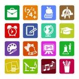 Grupo de ícones lisos modernos do conceito de projeto para a Web ou o app móvel Imagens de Stock Royalty Free
