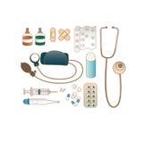 Grupo de ícones médicos do vecor ilustração stock