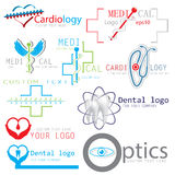Grupo de ícones médicos dos logotipos Foto de Stock Royalty Free