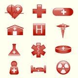 Grupo de ícones médicos ilustração do vetor