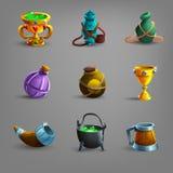 Grupo de ícones medievais da embarcação Imagens de Stock Royalty Free
