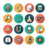 Grupo de ícones modernos da ciência do vetor Fotos de Stock