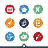 Grupo de ícones modernos da educação foto de stock