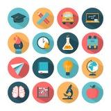 Grupo de ícones modernos da escola do vetor Fotografia de Stock Royalty Free