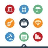 Grupo de ícones modernos da finança imagem de stock royalty free