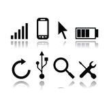 Grupo de ícones modernos do dispositivo Imagem de Stock Royalty Free