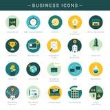 Grupo de ícones modernos do negócio Imagem de Stock
