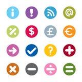 Ícones modernos da Web Imagens de Stock Royalty Free