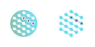 Grupo de ícones moleculars dos diagnósticos ilustração royalty free