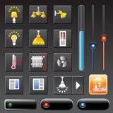 Casa esperta dos ícones Imagem de Stock Royalty Free