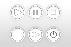 Grupo de ícones para esboços lisos do projeto da Web ilustração royalty free