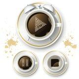 Grupo de ícones para o bom dia do café Imagens de Stock