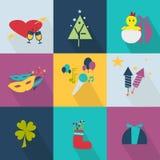 Grupo de ícones para o feriado ilustração stock