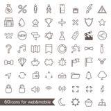 Grupo de ícones para a Web e o móbil Fotografia de Stock Royalty Free