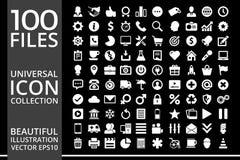 Grupo de ícones, projeto do vetor da coleção do ícone da qualidade fotos de stock royalty free