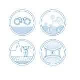 Grupo de ícones redondos ilustração do vetor