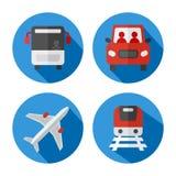 Grupo de ícones relacionados do transporte ilustração do vetor