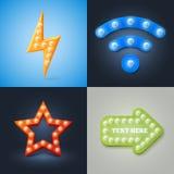 Grupo de ícones retros do vetor Imagem de Stock