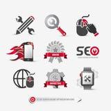 Grupo de ícones de SEO ilustração royalty free